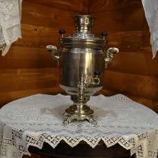 Угольный самовар Тула 1950 г. 5 литров никель