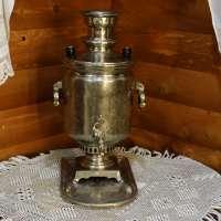 Угольный самовар Бр. Поповы в Слободском, 8 литров в оригинале