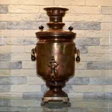 Угольный самовар В.П. Баташев в Туле, в патине 6 литров