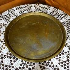 Старинный поднос Кольчугино латунь в патине