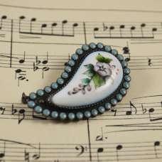Винтажная брошь-подвеска «Цветок»