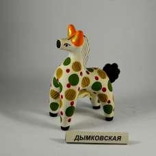 """Дымковская игрушка """"Конь"""" Разумова Т.И. 1990 г."""