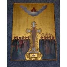 """Икона """"Избранные Святые у Гроба Господня"""" 19 век"""