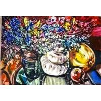 """Осенний натюрморт"" Акварель Худ. Феликс Гумен. 1999 год"