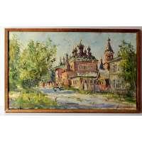 """Картина """"Серафимовская церковь в Вятке"""" А.М. Широков 2000 г."""