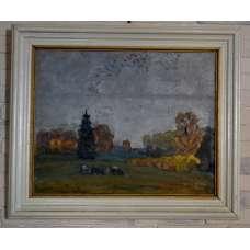 """Картина """"Осень"""" Н.А. Жолобов 1983 г"""