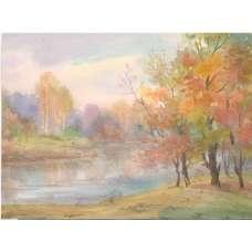 """Картина """"Осень""""  А. Семушин 1978 г."""