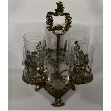 Интересная узорная подставка для стаканов на 6 штук